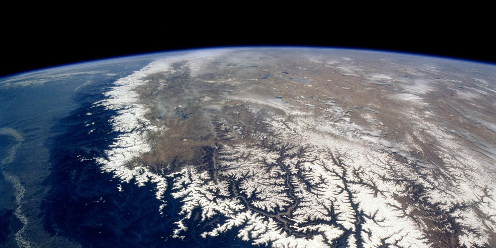 The Himalayas from space